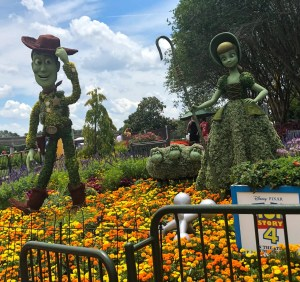 2019 Epcot Flower and Garden Festival. Woody and Bo. Vivacious Views