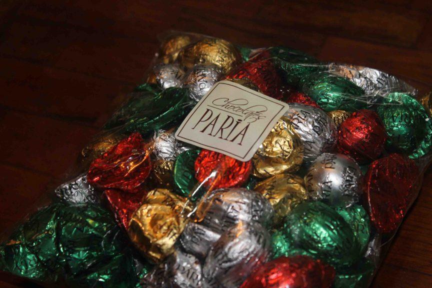Diversos productos ofrecidos por Chocolates Paria