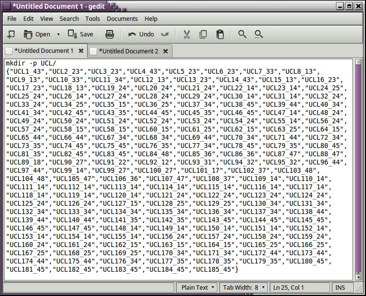 Ejemplo de creación de carpetas con mkdir en Linux