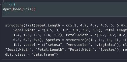 Copiar objetos de R con la función dput()