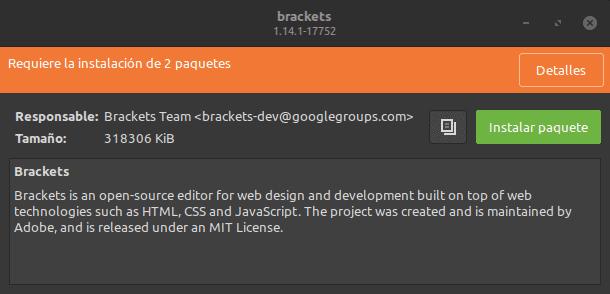 instalar Brackets en Linux con éxito