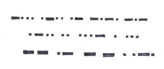 Morse code - BLM freehand (2)