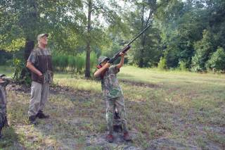 Hunting with his Oldest Grandchild