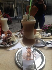 Iced Coffee in Baden Baden, Germany.