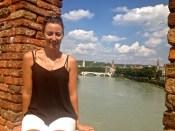 Old Bridge view in Verona.