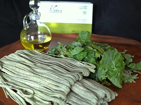 imported italian pasta, filotea spinach fettuccini