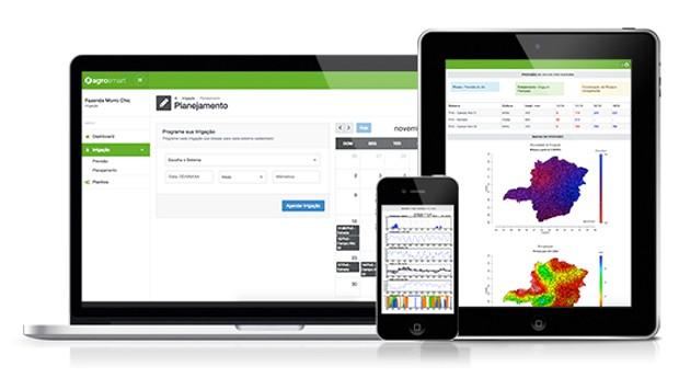 Agrosmart: tecnologia funciona em computadores, tablets e celulares (Foto: Reprodução )