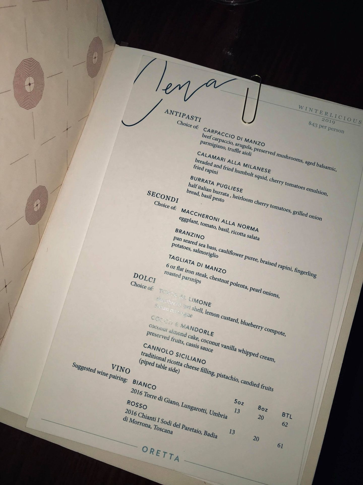 winterlicious menu 2019