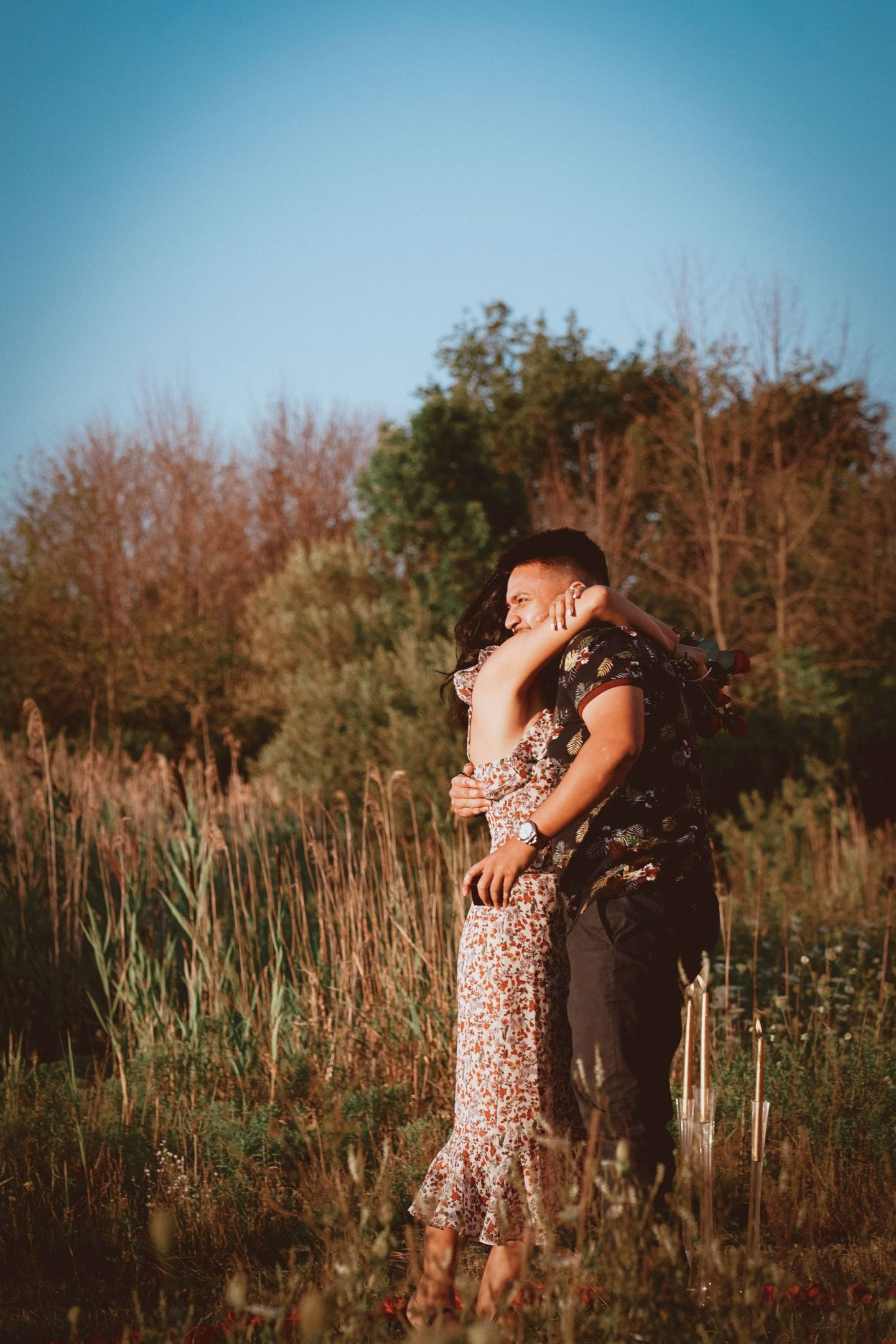 Adam and Ayla's engagement at the farm during covid