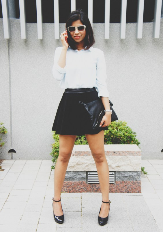 how to style black skirt