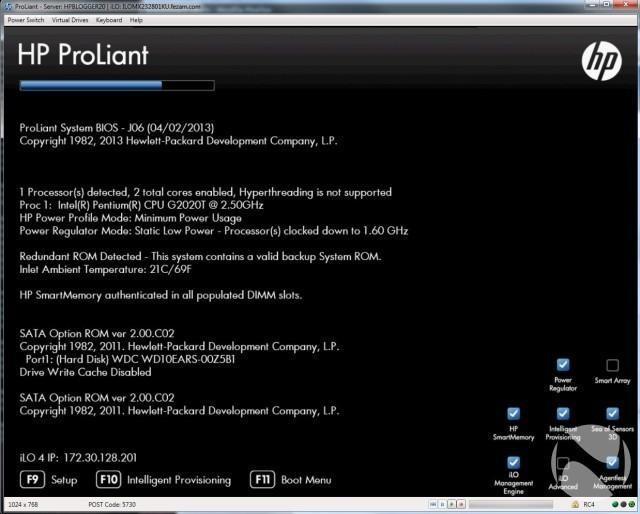 inicio BIOS HP
