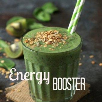 Energy booster - Kiwi Spinach Smoothie Vegan