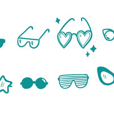 Zomerse tekenoefening 3 - symbolen, iconen, zakelijk tekenen, visueel werken