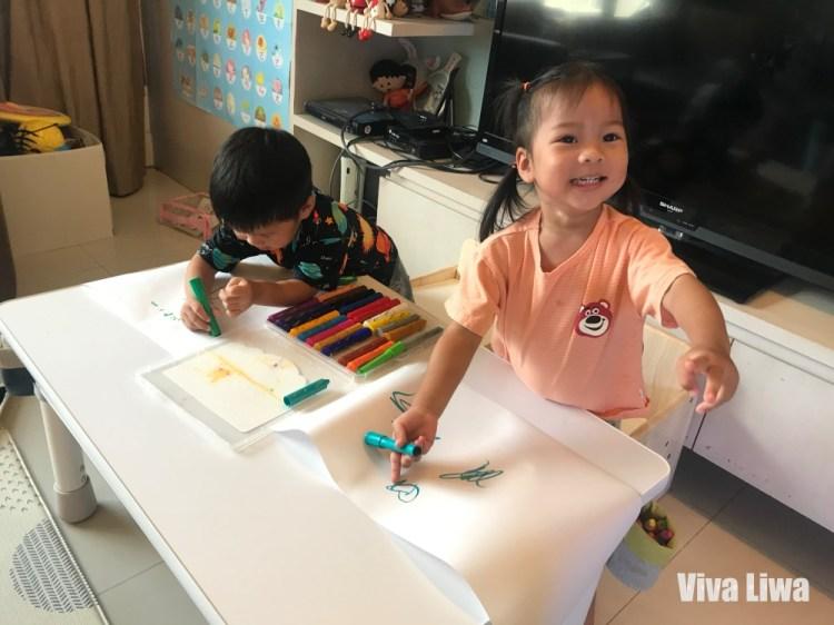 雙寶三寶大桌面幼兒成長桌椅推薦|愛兒館:我的第一張桌子
