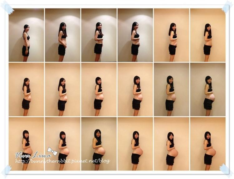 [孕媽咪] 4w~40w孕期肚子緩慢隆起變化史