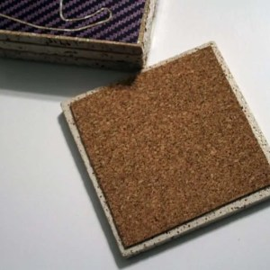 coasters cork backing