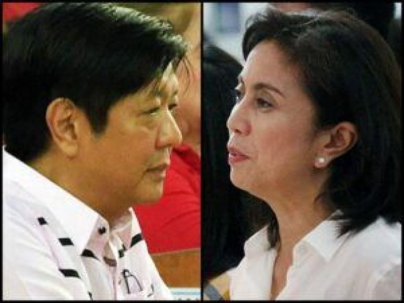 Bong Marcos and Leni Robredo