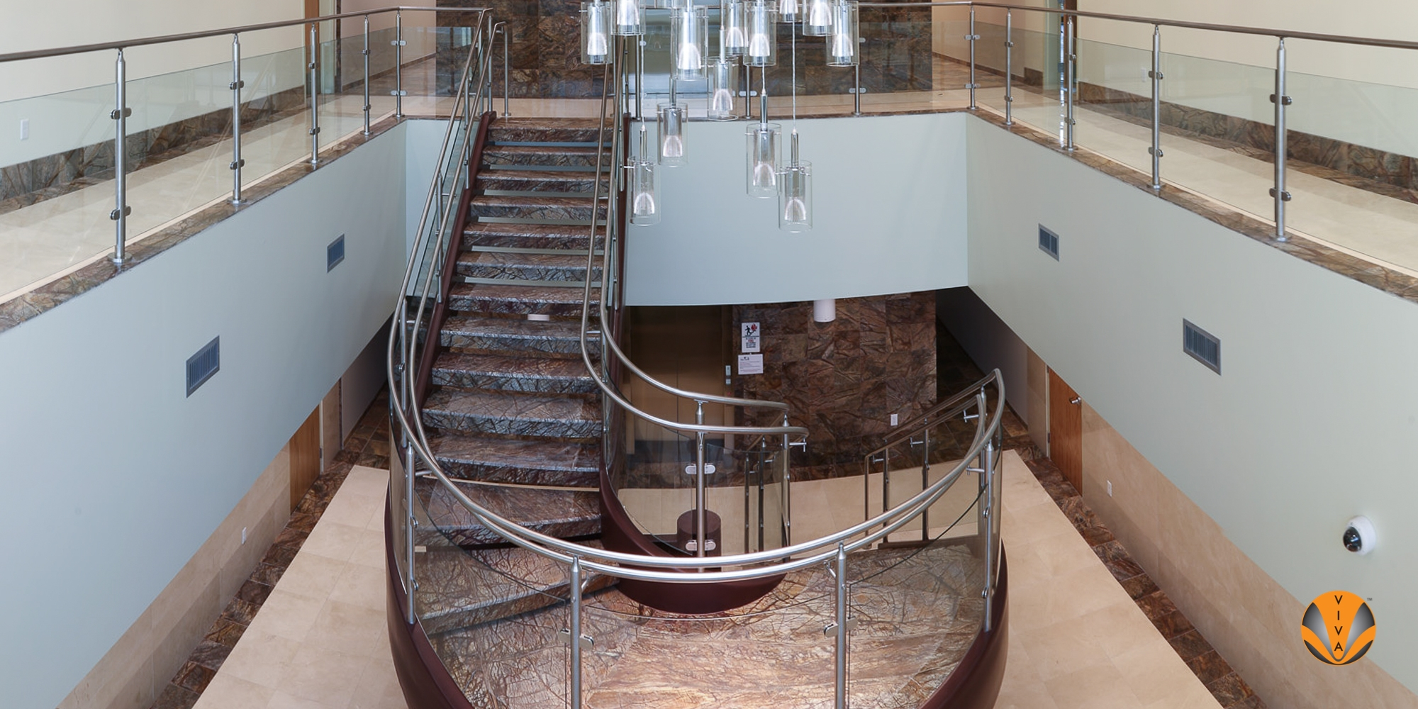 Curved Glass Railing System Circa™ Genusys Corporation   Glass Stair Railing Cost   Living Room   Glass Balustrade   Simple   Grill   Glass Wood Combined