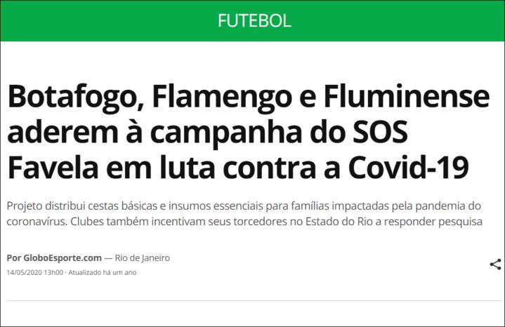Site do GloboEsporte – 14-5-2020