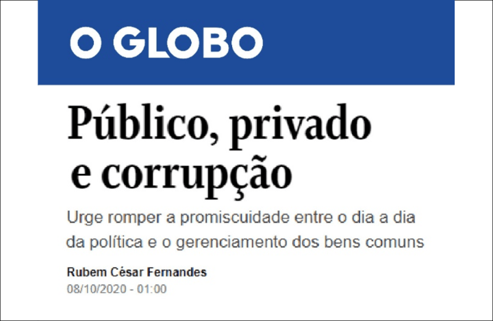 Jornal O Globo – 8-10-2020