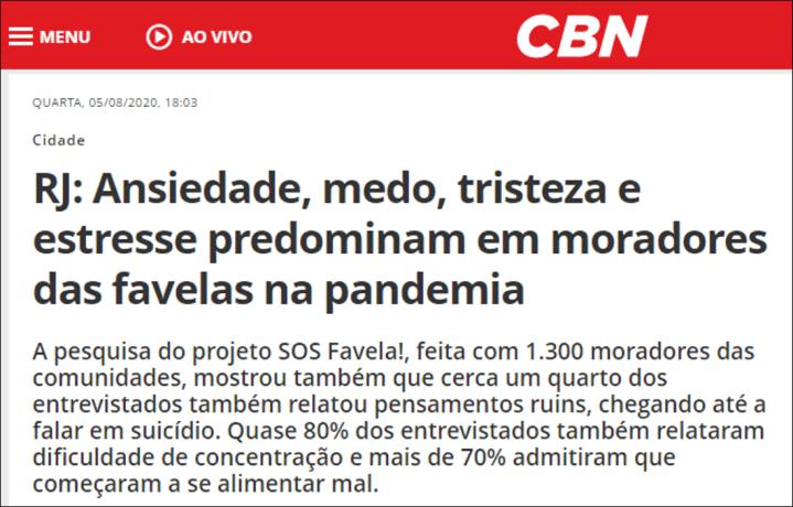 Rádio CBN – 5-8-2020