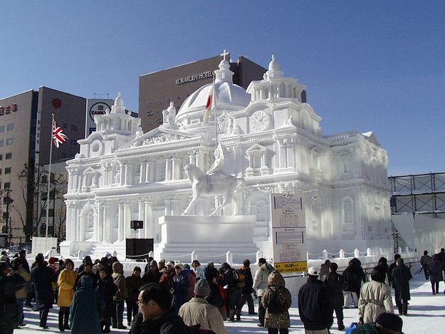 Or instead of an igloo, maybe build a snow castle?