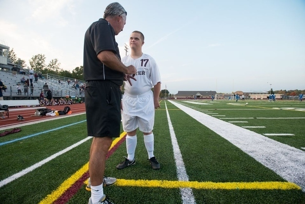 The Michigan soccer team who gave their team manager with Down syndrome an opportunity to start