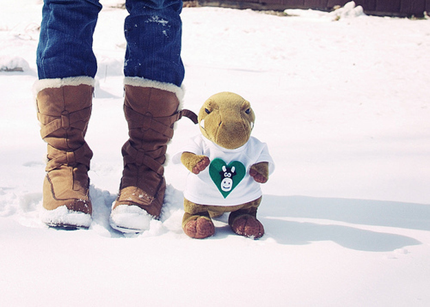 Winter fashion is great. There are snow boots,