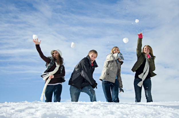 Don't forget to have a snowball fight!