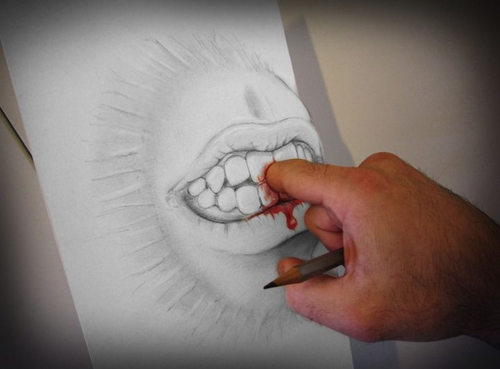 0825 Anamorphic 3D Pencil Drawings by Alessandro Diddi