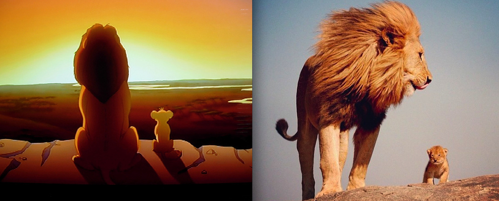 """The Lion King"" - Mufasa and Simba"