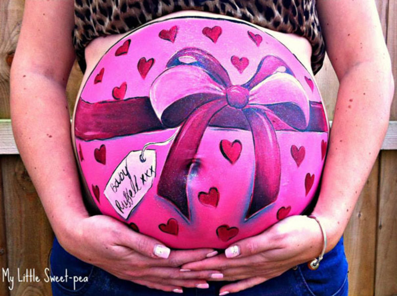 pregnant bump painting carrie preston 18