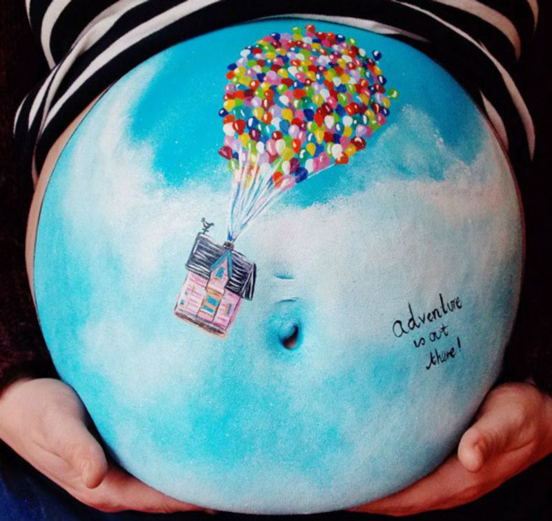 pregnant bump painting carrie preston 3