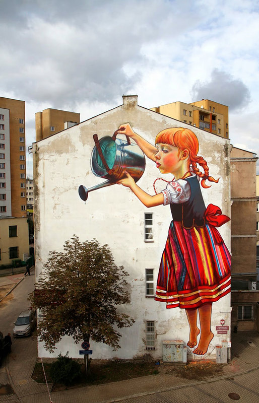 street art interacts with nature 2
