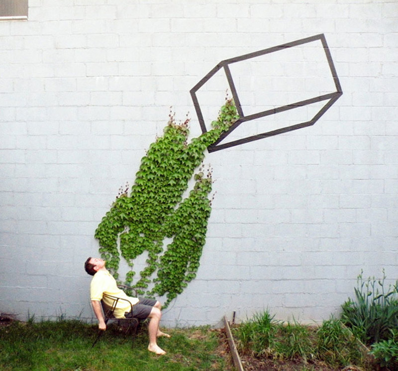 street art interacts with nature 24
