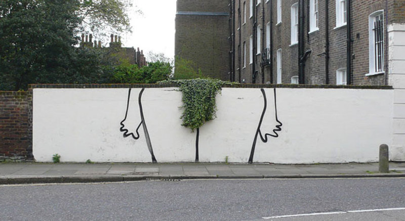 street art interacts with nature 6