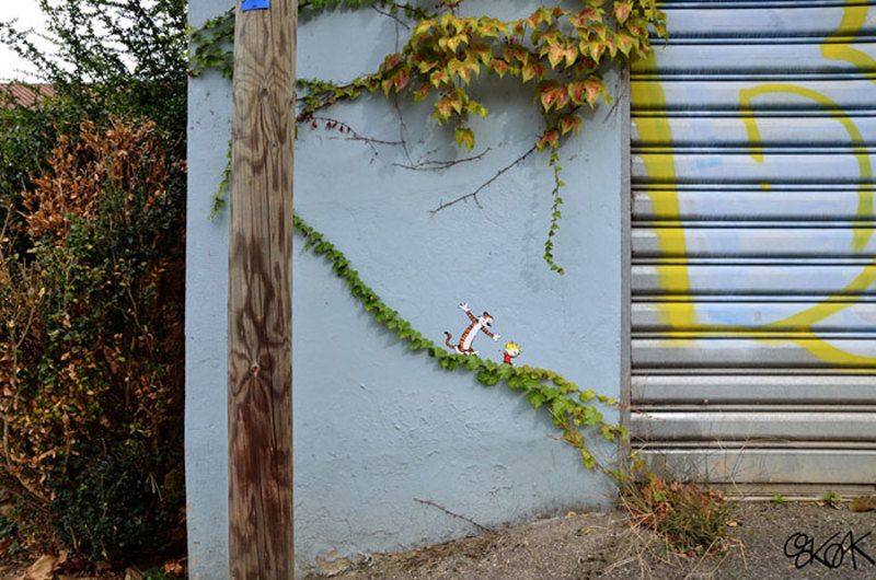 street art interacts with nature 8