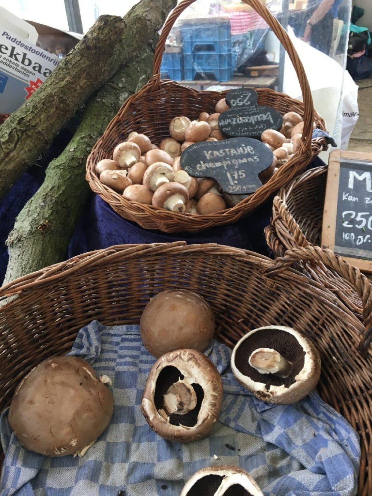 Cogumelos no Noordermarkt, Amsterdam