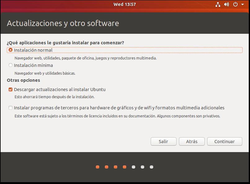 INSTALAR UBUNTU DESKTOP 18.04 LTS actualización y otro software