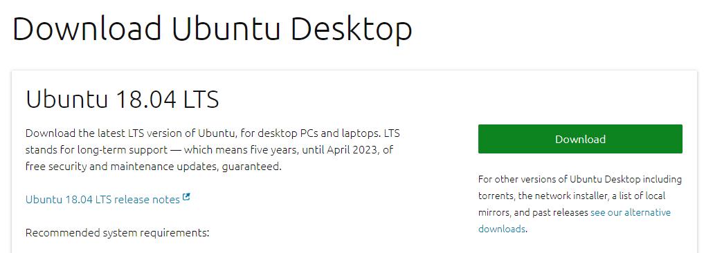 INSTALAR UBUNTU DESKTOP 18.04 LTS descargar
