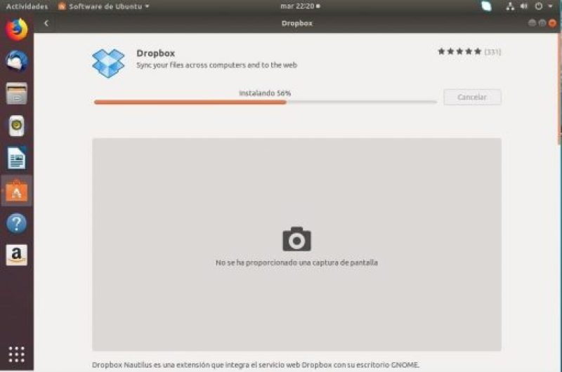 instalar dropbox en ubuntu 18.04 desde repositorio instalando