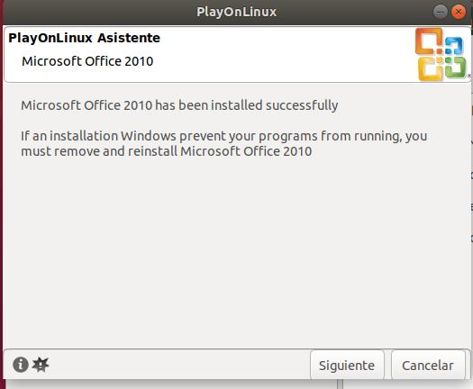 Instalar office 2010 en ubuntu 18.04