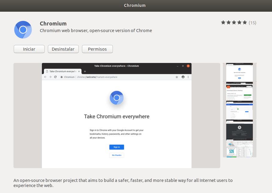 instalar chromium en ubuntu_iniciar