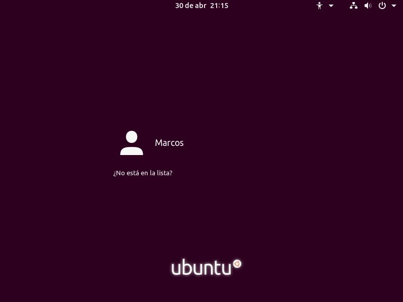 instalar ubuntu 19.04 inicio de sesión