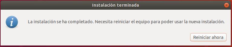 instalar ubuntu junto a windows 10 _ reiniciar
