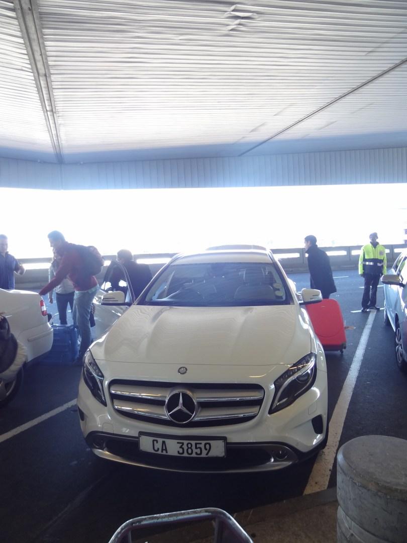 O carro que nos buscou no aeroporto