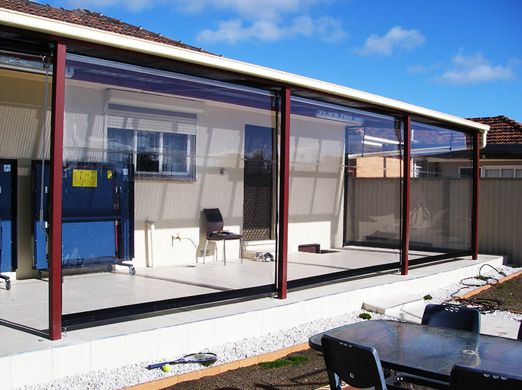 consider vinyl clear patio curtains to