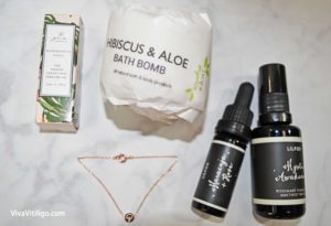 Picture of October 2016 Glowing Beets Organic Beauty Box Products by brands like LilFox