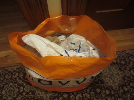 Bags of bags outside my bedroom door. Fuuuuhhhhh...
