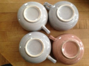 Russell Wright tea cups. If I don't get any takers, I'm giving them to Chris.